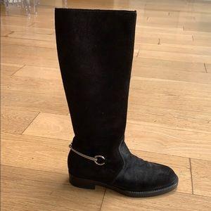 GUCCI Horsebit Suede Boots